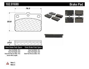 Front PPF Semi Metallic Brake Pads Fits Pontiac Toyota Corolla Matrix Vibe