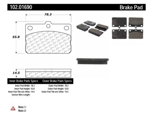 Disc Brake Pad Set-C-TEK Metallic Brake Pads-Preferred Front fits 75-79 Corolla
