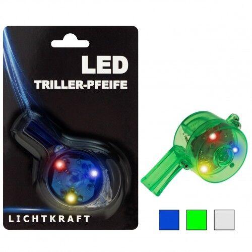 4x LED Trillerpfeife Blinki Blinklicht Party Karneval Fasching Konzert Triller