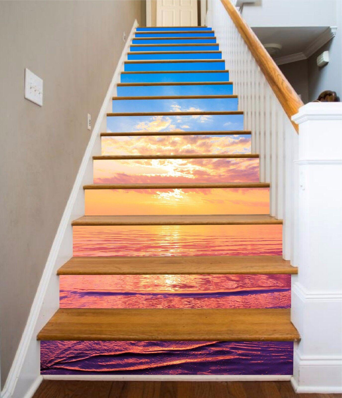 3D Sky ocean 354 Stair Risers Decoration Photo Mural Vinyl Decal Wallpaper UK