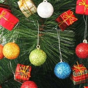 12Pcs-Christmas-Ornament-Glitter-Baubles-Xmas-Tree-Hanging-Ball-Party-Home-Decor