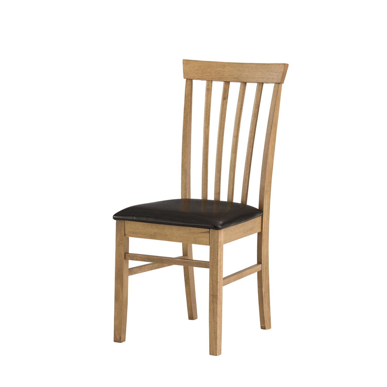 Mood Warm Oak Kitchen Dining Chair With Dark Brown