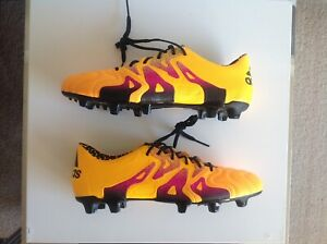 Details about ADIDAS X 15.1 FGAG LEATHER FOOTBALL BOOTS UK 8.5 EUR 42.23 US 9 PREDATOR SAMPLE