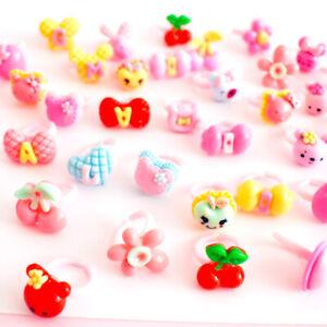 Cute-Cartoon-Princess-Flower-Fruit-Rings-Kids-Girls-Makeup-Toy-Birthday-Gift