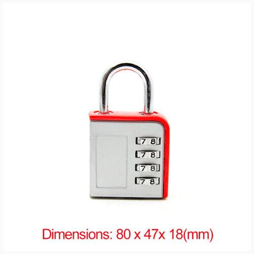 3 Dial Digit Number Code Password Combination Padlock Security Luggage Lock