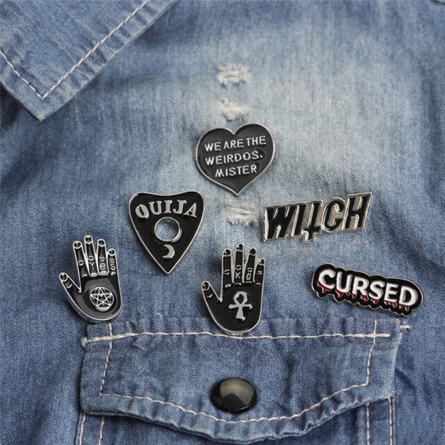 6PCS/Set Punk Enamel Brooch Pin Gift Shirt Collar Lapel Corsage Pin JewelryG9A