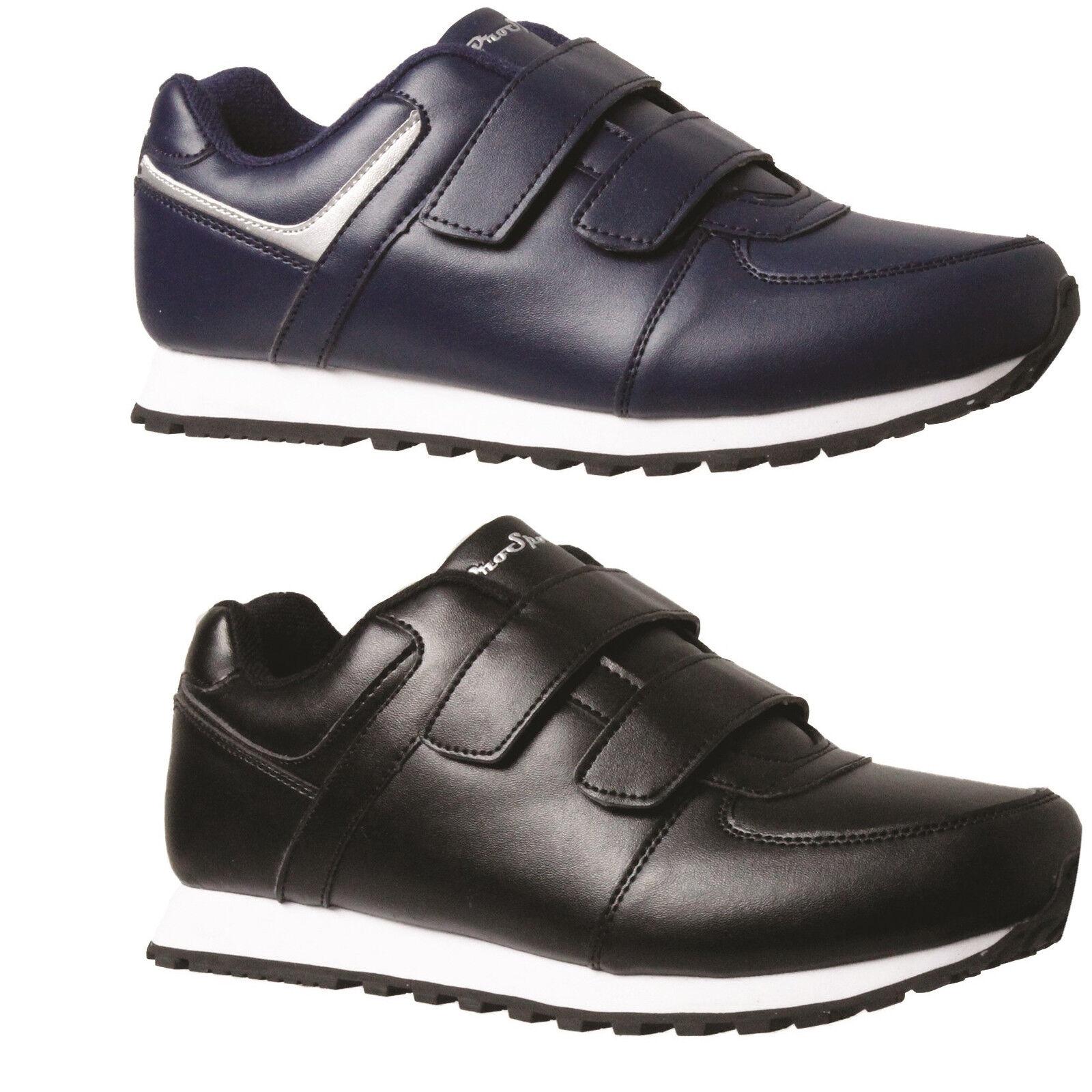 Mens Aerosport Phillip Strap Over Black Navy Comfort Everyday Fastening shoes