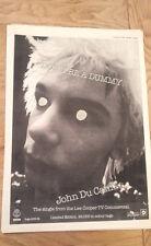 JOHN DU CANN Don't Be A Dummy 1979 UK Poster size Press ADVERT 16x12 inches