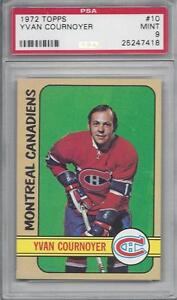 1972-Topps-NHL-hockey-card-10-Yvan-Cournoyer-Montreal-Canadiens-PSA-9-Mint