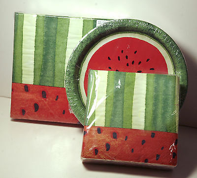 NWT Craftmaster All Occasion Watermelon Beverage Napkins pkg of 36