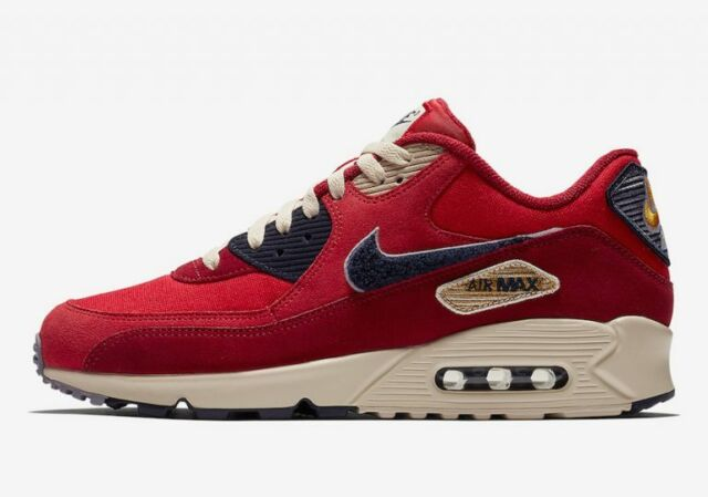 39f0a713a523b Nike Air Max 90 Premium SE University Red/provence Purple 858954-600 Size  US 8