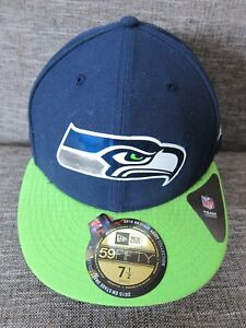 92dfff15d51 New Era SEATTLE SEAHAWKS Football Team NFL FITTED HAT Baseball Cap ...