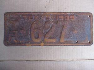 1935-TEXAS-TRAILER-LICENSE-PLATE-ORIGINAL-FORD-CHEVY-GMC-35-HOT-RAT-STREET-ROD