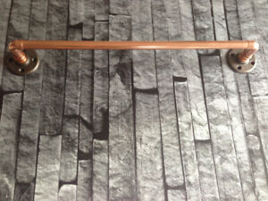 COPPER-PIPE-TOWEL-RAIL-Industrial-Vintage-Modern-various-sizes-available