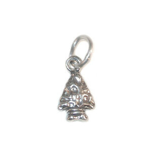 STERLING-SILVER-Mini-CHARM-Indian-Native-Western-ARROWHEAD