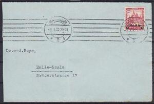 DR-Mi-Nr-464-EF-mit-Boehringer-GmbH-Vignette-Brief-mit-MAS-Mannheim-Halle-1932