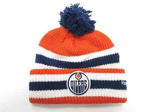 EDMONTON OILERS 2016 NHL HERITAGE CLASSIC REEBOK CUFFED POM KNIT HAT TOQUE