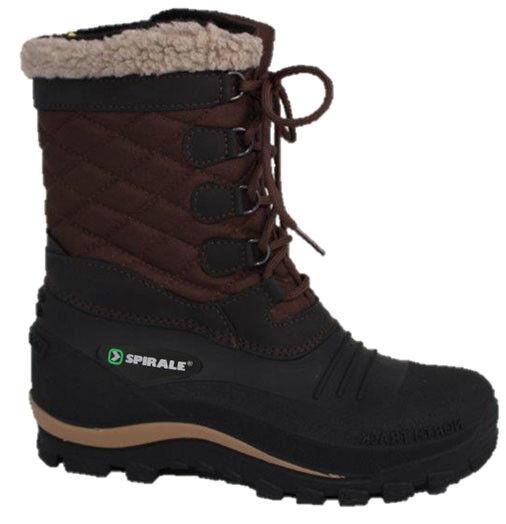 Espiral Mary señora botas de invierno botas de nieve nieve zapatos caliente forraje marrón