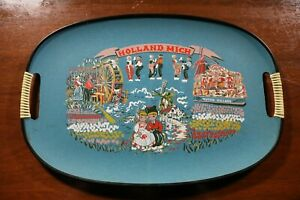 Vintage 60s 70s Holland Michigan Platter Plate Tray Dutch Village