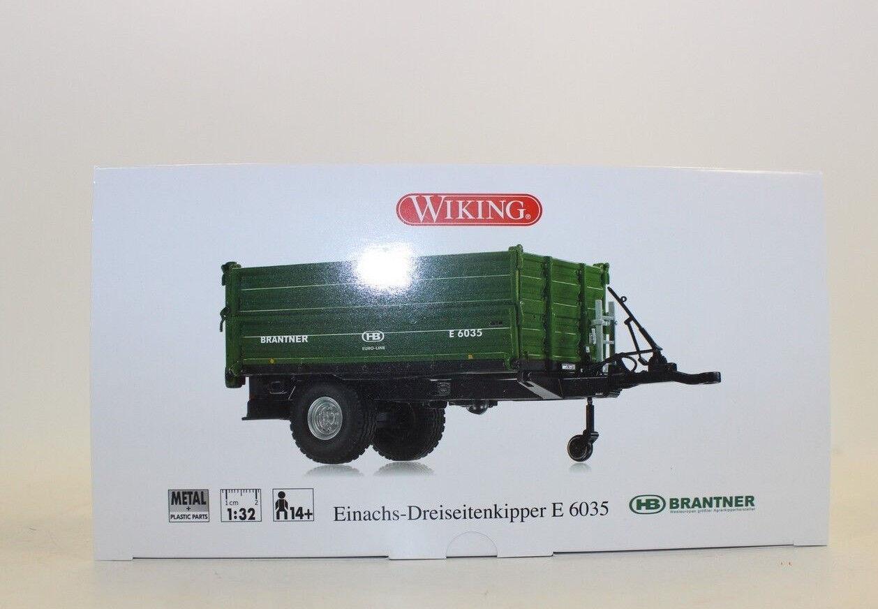 Wiking Wiking Wiking 773 48 Brantner Einachskipper E 6035 Benne Trois-côté 1 32 077348 ccc773