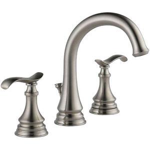 Bathroom Faucet Brushed Nickel delta kinley 35730lf-sp widespread bathroom lavatory faucet