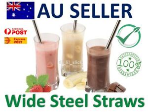 Wide-Eco-Stainless-Steel-Drinking-Straws-Metal-Smoothie-Straw-Reuseable-Brush