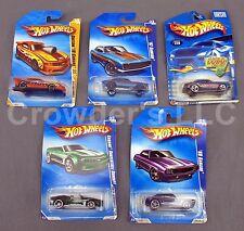 Set of 5 Collectible Chevy Camaro Hot Wheels Variety: 67 Custom 69 Convertible