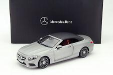 Mercedes-Benz S-Klasse Cabriolet (A217) Baujahr 2015 grau metallic 1:18 Norev