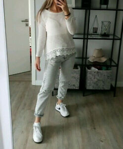 H&M Spitzen Pulli Shirt beige Creme weiss 36 S - Bayreuth, Deutschland - H&M Spitzen Pulli Shirt beige Creme weiss 36 S - Bayreuth, Deutschland