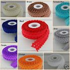 2m, 5/8 , 15mm  Frill Edge FOE Fold over elastic Ribbon baby headband