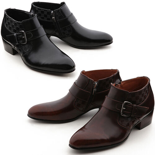 New Band Mooda Fashion Mens Dress Formal Leather Zip Ankle Boots Shoes Nova