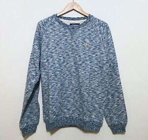 Retail $99 Lightning Bolt Surf Mens Sweatshirt Gray Blue
