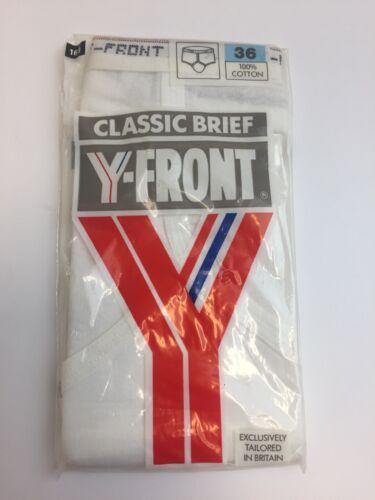 Vintage en coton blanc homme Classic Brief Y-Front Lyle and Scott Taille 36 Neuf