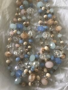 Target Rose Gold Tone Multiple Colored Beads Layered Statement Necklace Ebay