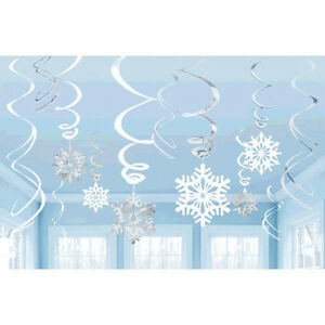 Snowflakes-Frozen-Hanging-Swirl-Decorations-Holiday-amp-Birthday-Party-Supplies