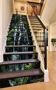 3D Branches Rock 96 Stair Risers Decoration Photo Mural Vinyl Decal Wallpaper AU