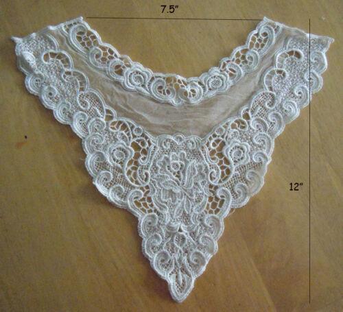 11 Victorain Venice Lace Neckline Collar Applique Sewing Motif  Patch zhc11