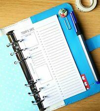 Pianificazione giornaliera personale o A5 Planner Filofax Kikki K inserti