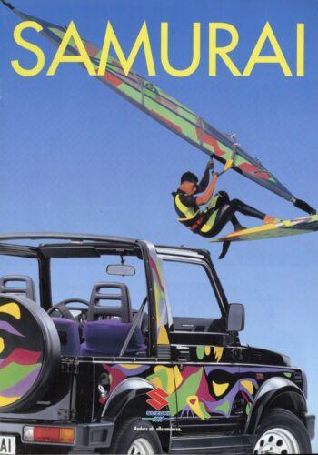 0102 suzau SUZUKI SAMURAI prospetto 1993 auto prospetto brochure broschyr brosjyre