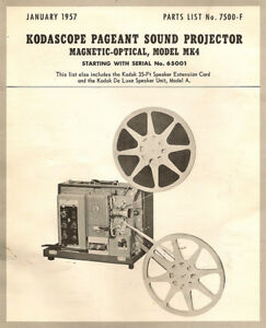 Details about Kodascope 16mm Film Sound Projector MK4 - Instruction Manual  - PDF File