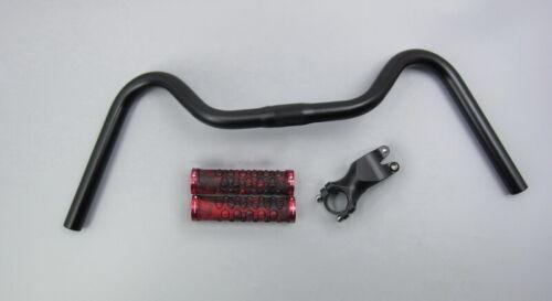 FMF Vintage Urban Bike Riser Bar 25.4*540//600 Handlebar Grips 15°60//80 stem