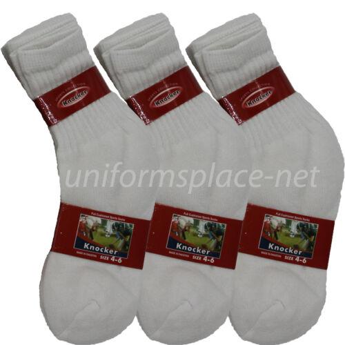 12 Pairs Boys Socks Cotton Blend Crew Ankle Boy or Girls Sport Athletic Socks