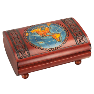 Wooden-Cigar-Gift-Box-World-Map-Vintage-Decorative-Large-for-Men-Fathers-Day