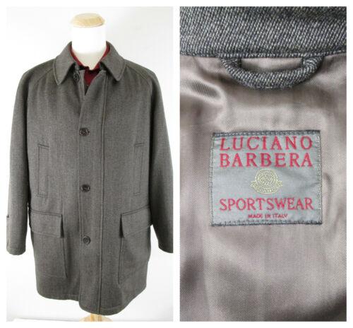 Luciano Barbera Sportswear Mens Brown Wool Top Coa