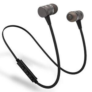 Metal Magnetic Wireless Bluetooth Earphone Sports Headset Stereo Bass Headphone