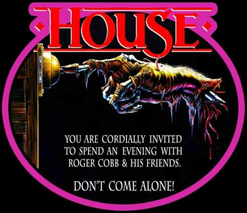 80/'s Horror Classic HOUSE Poster Art custom tee Any Size Any Color