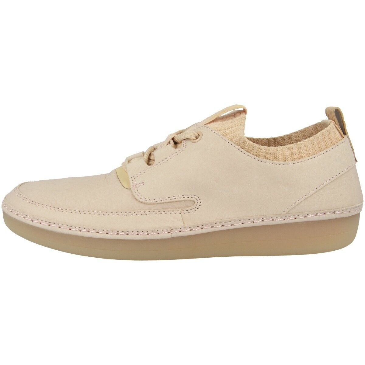 Zapatos promocionales para hombres y mujeres Clarks Nature IV Schuhe Damen Freizeit Leder Schnürschuh Sneaker nude 26131019