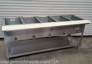 New 5 Well Gas Steam Table Duke Aerohot Wb305 Water Bath