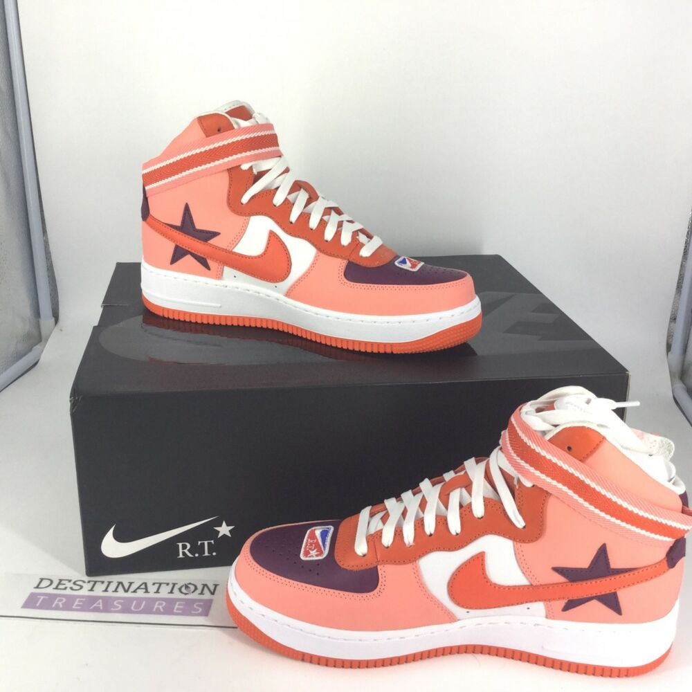 Nike AF1 Hi RT Ricardo Tisci ICARUS Sz 9 Sunblush Bordeaux Orange NIB Sneakers