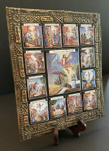 Russian Icon Enameled Images of 12 Feasts and the Ascension, Brass Basma